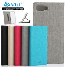 Karte Slot Stand Leder Flip Case TPU Hülle Etuis Für Blackberry Key 2 LE / Lite