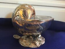 NAUTILUS SHELL Silver Plated Spoon Warmer VICTORIAN purchased in Belgium