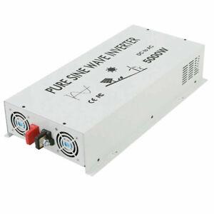 5000W Pure Sine Wave Inverter 12/24V DC to 120/240V AC Solar Power Inverter