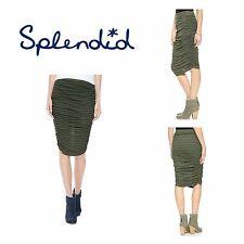 Splendid Ruched Tube Skirt in Grey Shadow Medium NWT $88 style SS8582RT