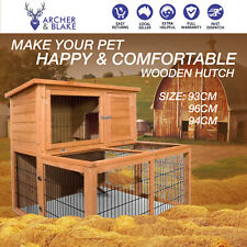 2 Story Wooden Deluxe Pet Rabbit Cage Hutch Chicken Coup House Extension Run