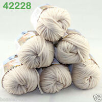 Sale Lot 6ballsx50g Soft Worsted Cotton Chunky Bulky Hand Knitting Shawl Yarn 28