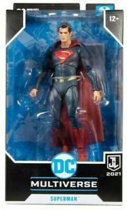 McFarlane Toys DC Justice League: (Exclusive) Superman Blue/Red Suit Figure