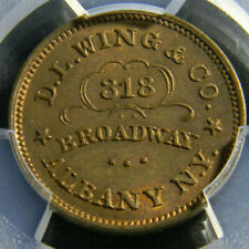 USA Abany NY 1861-1865 Civil War Token, D.L Wing & Co , PCGS MS 64 RB