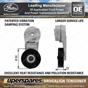 Gates DriveAlign Alternator Tensioner Unit for Holden Malibu Vectra Zafira