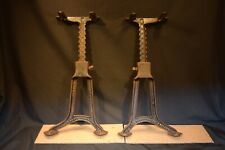 1893 Patent Rare G.A. Bobrick Cast Iron Industrial ADJUSTABLE TABLE Bench Legs
