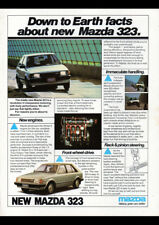 "1981 BD MAZDA 323 HATCHBACK AD A4 CANVAS PRINT POSTER 11.7""x8.3"""