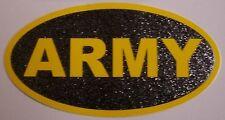 Window Bumper Sticker Military Army oval text glitter NEW Decal