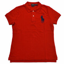 Polo Ralph Lauren Womens SKINNY Fit Big Pony Shirt - Choose Sz/color Red Medium