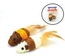 Wholesale Lot Of 12 Mice Cat Toy Mouse Cat Rope Weave Chew Toy Stretch Tail