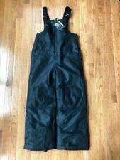Boys' C9 Champion Snow Bib Ski Pants, Black, Size Medium 8-10, NEW