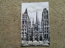 .POSTCARD FRANCE.ROUEN. LA CATHEDRALE. POSTED.19 MAY 1959.NICE STAMP..