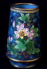 Vase en émaux cloisonnés Chine bronze Enamel flower chinese