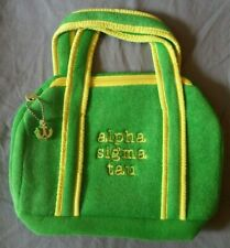 Alpha Sigma  Tau Terry Cloth Bikini / Make up  Bag New in Box Retired