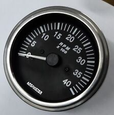 Auto Tachometer Gauge 4000RPM 9V-32V White Face Stainless For Gas Diesel Engine