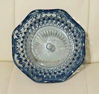 Vintage Blue Glass Dish Candy Trinket
