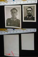 Orig. Lot Fotos Luftwaffe Soldat 2WK 3.Reich WWII Uniform Portrait Photo Paßbild