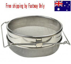Double Stainless Steel Honey Sieve / Strainer Beekeeping Accessory
