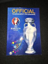 Official Programme Euro 2016 Frankreich France EM Englisch English