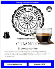 10 Nespresso capsules compatible pods FRESHLY ROASTED gourmet coffee CUBANITO