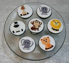 Baby Animal Cup Cake Toppers X 6 WOW Pick Your Mix. Colours Can Be Changed