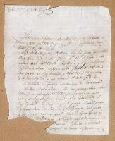 Antico documento manoscritto 1808