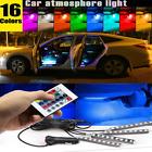 Rgb Led  Lights Parts Accessories Car Interior Floor Decor Atmosphere Strip Lamp