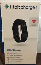 Fitbit  Charge 2 Heart Rate + Fitness Wristband Large Model FB407SBKL ( Black )