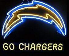 """Los Angeles Chargers Go Chargers Neon Lamp Sign 20""""x16"""" Bar Light Beer Display"""