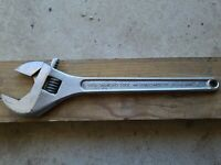 "Vintage Diamond Tool and Horseshoe Co. 18"" Heavy Duty Adjustable Crescent Wrench"