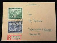 Deutschland Alliierte Besetzung 03.03.1948 - Brief von Leipzig nach Schweinfurt