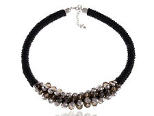 Shimmering Cluster of 1970s Disco Ball Beads Twisted Rope Choker New Necklace