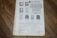 vintage 1953 rca victor television receivers manual 21t303 21t316u etc. etc.