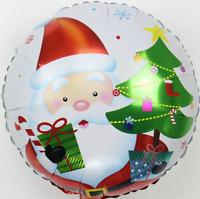 Feliz Navidad Globos Papá Noel Deco Santa Muñeco de Nieve Árbol Metalizado