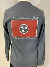 "New Volunteer Traditions ""State Flag"" Long Sleeve T-Shirt, Gray, Small, XL, 2XL"