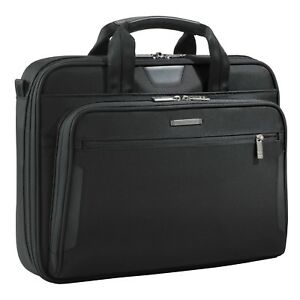 NEW. Briggs & Riley, @work series, Black, KB206-4, Medium Laptop Briefcase / Bag