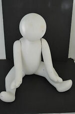 Vintage Life size Baby Mannequin Sitting removable limbs store