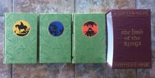 The Lord Of The Rings Trilogy JRR Tolkien Folio Society Hardback Editions 2002