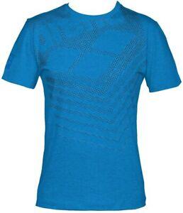 Arena Hommes T-shirt, M Essential Big Logo Tee, respirant Comfort, Bleu, S