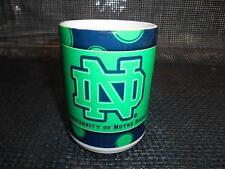 Old Vtg Notre Dame Fighting Irish Nd Coffee Cup Mug Advertising Made Usa