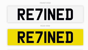 REFINED RE71NED Number Plate