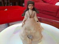 Rarissima Bambola D'epoca Lenci Prima comunione catenina Anni 50 da collezione