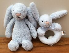 jelly kitten Blue bunny Rattle And Teether Rattle