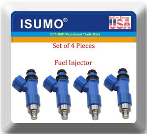 Set 4 Fuel Injector Fits: Subaru Forester Impreza Legacy Outback H4 2.5L
