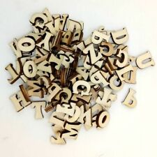 Mixed English Wooden Letter&Alphabet Natural Wood Party Decoration /100 Pcs Pack