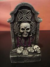 "7"" Tall RIP LED Tombstone New Halloween Decor Mint Condition Batteries Included"