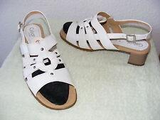 GABOR Gr. 41,5 weiße Sandalen,, Sandaletten, Riemchen Pumps NEU weiß