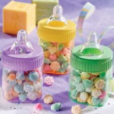 Baby Multi-Colours Plastic Fillable Bottles Favours Shower Arrival Party