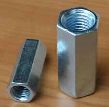 2Pcs M14 x 2 pitch Long Rod Coupling Hex Nut Right hand Thread