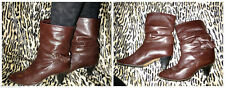 Faux Leather 1990s Vintage Shoes for Women
